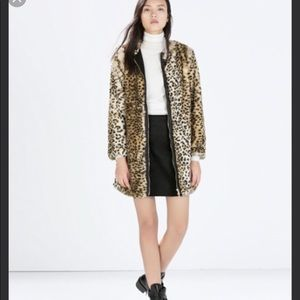 63fa6b3fbaac Zara Jackets & Coats - New Zara Basic Women's Leopard Print Coat Large